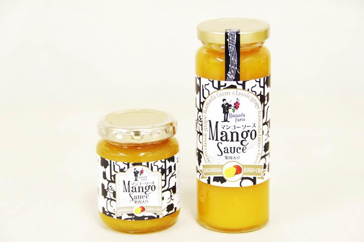 お口の中でマンゴーの果肉がとろけるマンゴーソース