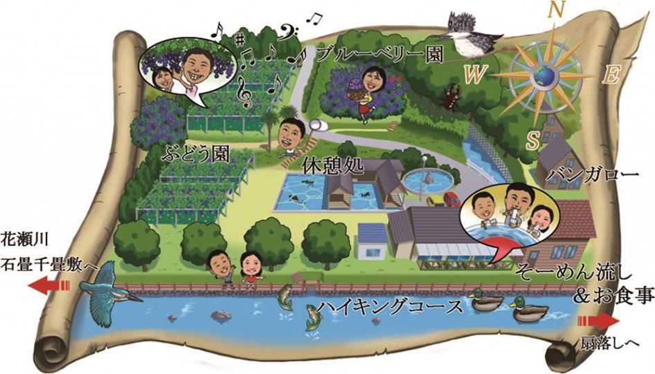 クラシックブドウ浜田農園の農園マップ